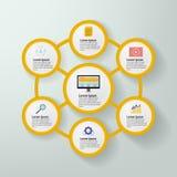 Blog infographics Vektor Lizenzfreies Stockfoto