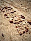 Blog letters on the beach. Blog inscription on the sand. Summer beach blog concept Stock Photos