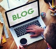 Blog-Internet-Social Media-Netz-Website-Ideen-Konzept Lizenzfreies Stockfoto