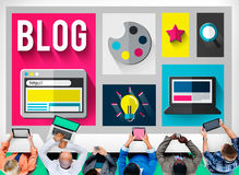 Blog Internet Social Networking Idea Media Concept Stock Images