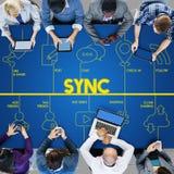 Blog-Internet-Vernetzung schließen Kommunikations-Konzept an Lizenzfreie Stockfotos