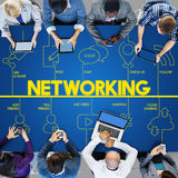 Blog-Internet-Vernetzung schließen Kommunikations-Konzept an Lizenzfreies Stockbild