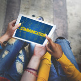 Blog-Internet-Vernetzung schließen Kommunikations-Konzept an Lizenzfreie Stockbilder