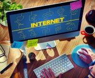 Blog-Internet-Vernetzung schließen Kommunikations-Konzept an Lizenzfreies Stockfoto