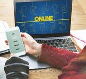 Blog-Internet-Vernetzung schließen Kommunikations-Konzept an Stockfotos