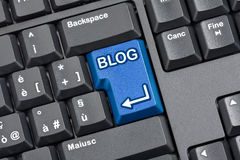 Blog Key Computer Keyboard Royalty Free Stock Photography