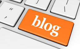 Blog Key Royalty Free Stock Image