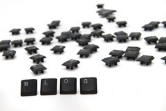 Blog from the keyboard keys Stock Image