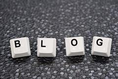 Blog keys Stock Image