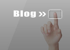Blog-Konzept Lizenzfreies Stockfoto