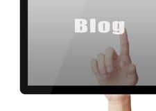 Blog-Konzept Stockbilder