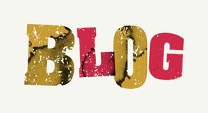 Blog-Konzept gestempeltes Wort Art Illustration Lizenzfreie Stockfotografie