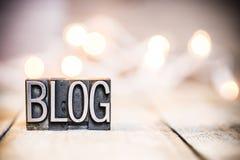 Blog-Konzept-Weinlese-Briefbeschwerer-Art Thema Lizenzfreies Stockbild