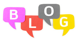 BLOG ,Label ,Speech bubbles Stock Photography