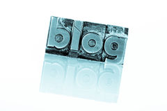 Blog in lead letters. The word blog written with lead letters. photo icon for blog Stock Photography