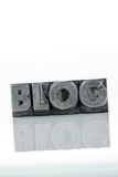 Blog in lead letters. The word blog written with lead letters. photo icon for blog Stock Image