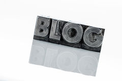 Blog in lead letters. The word blog written with lead letters. photo icon for blog Royalty Free Stock Photo