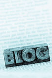 Blog in lead letters. The word blog written with lead letters. photo icon for blog Royalty Free Stock Photos