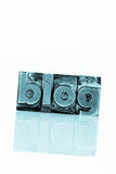 Blog in lead letters. The word blog written with lead letters. photo icon for blog Stock Photo