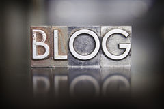 Blog Letterpress Type Royalty Free Stock Photos