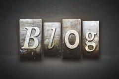 Blog Letterpress Royalty Free Stock Photo