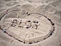 Blog letters on the beach. Blog inscription on the sand. Summer beach blog concept Stock Image