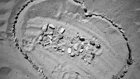 Blog letters on the beach. Blog inscription on the sand. Summer beach blog concept Stock Photo