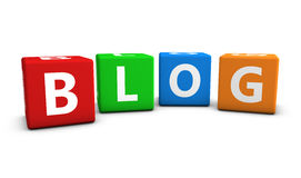 Blog Letters On Colorful Cubes Stock Image