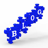 Blog Letters Means Internet Blogging Stock Photography