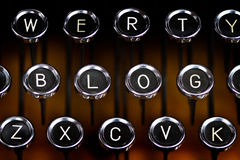 Blog letters on an old typewriter keyboard Stock Images