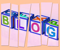 Blog Letters Show Internet Marketing Opinion Or News Stock Photography