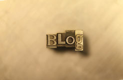 Blog - lettrage d'or Image libre de droits