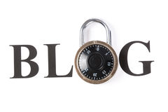 Blog and lock Royalty Free Stock Image