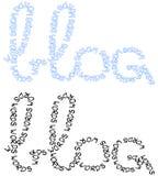 Blog logos royalty free illustration