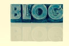 Blog in loodbrieven Royalty-vrije Stock Afbeeldingen