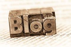 Blog in loodbrieven Royalty-vrije Stock Fotografie