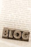 Blog in loodbrieven Stock Foto
