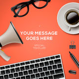 Blog management concept Royalty Free Stock Photography