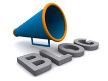 Blog with megaphone Royalty Free Stock Images