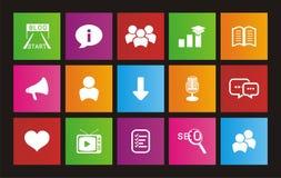 Blog metro style icons Royalty Free Stock Image