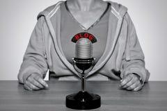 BLOG microphone Royalty Free Stock Photos