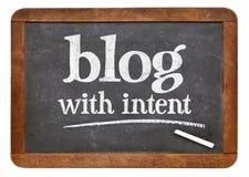 Blog mit bedachtem Rat oder Anzeige Stockbilder