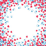 Blog monetization graphic. Hearts and likes. Profit from traffic. Abstract background Royalty Free Stock Photo