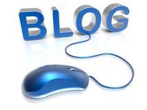Blog mouse concept Stock Photos