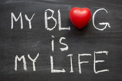 Blog is my life Stock Photo