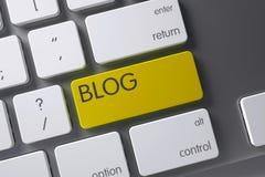 Blog-Nahaufnahme der Tastatur Abbildung 3D Stockfotos