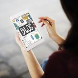 Blog-Netz-Social Media-Grafik-Konzept Lizenzfreies Stockfoto
