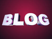 Blog bended text Stock Image