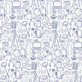 Blog Object Seamless Pattern Stock Images
