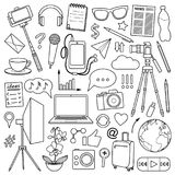 Blog Object Set Royalty Free Stock Photos